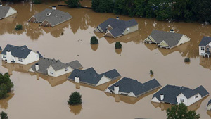 In September 2009 Atlanta received 20 inches of rain over a 72 hour period. Average rainfall for a year is 50 inches.