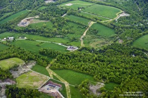 Marcellus Shale gas drilling pads in West Virginia