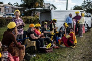 Knitting Nannas take on the unconventional gas industry