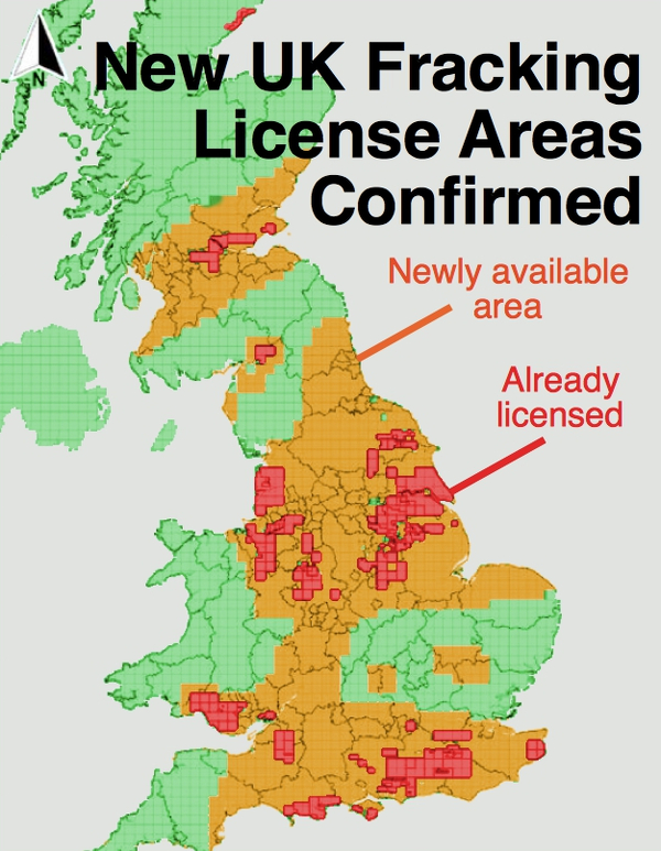 Fracking license areas