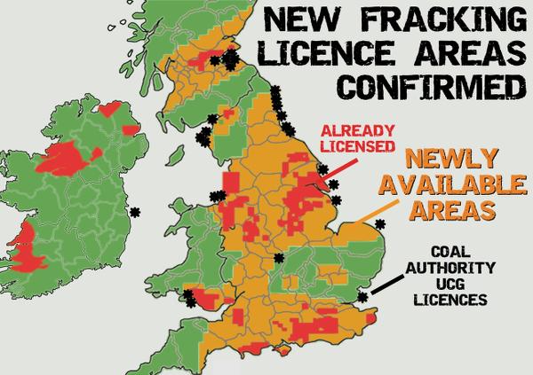 New UK Fracking Licence Areas Confirmed Frack Off