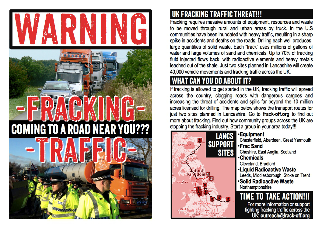 Fracking Traffic Flyer