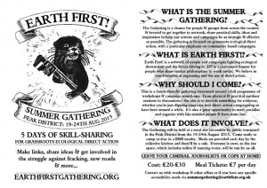 Earth First! Summer Gathering - 5 days of training & skill sharing for the anti-fracking movement!