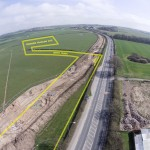 Cuadrilla's proposed Preston New Road Site and vehicle entrance.