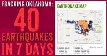 EARTHQUAKES PLAGUE OKLAHOMA FRACKING INDUSTRY