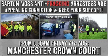 BARTON MOSS ANTI-FRACKING ARRESTEES APPEALING CONVICTIONS - COME ALONG & SHOW YOUR SUPPORT!