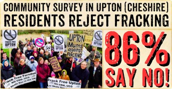 86% of Upton (Cheshire) Residents Say No To Fracking!