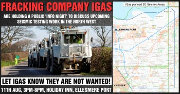 IGAS PRO-FRACKING 'INFO EVENT' TUES 11TH - ELLESMERE PORT - BE THERE!
