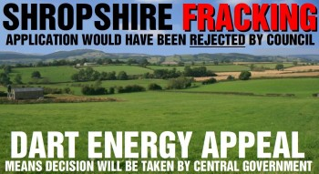 Central Government Take Over Of Shropshire Fracking Application