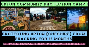 Cheshire Anti-Fracking Camp One Year Old Today