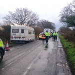 Police On Road Outside Upton Camp During Eviction Attempt