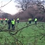 Police In Field Near Upton Community Anti-Fracking Camp