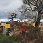 People On Scaffold Towers Try To Hold Out Against Upton Eviction