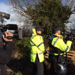 Police Intelligence Team And Media Film Eviction Attempt At Upton Camp