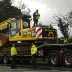 Local Resident Halts Digger On Way To Upton Eviction