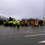 Local Residents Demonstrate On Road Near Upton Camp