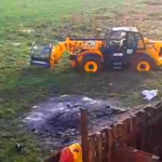 JCB Stuck In Mud During Eviction Attempt