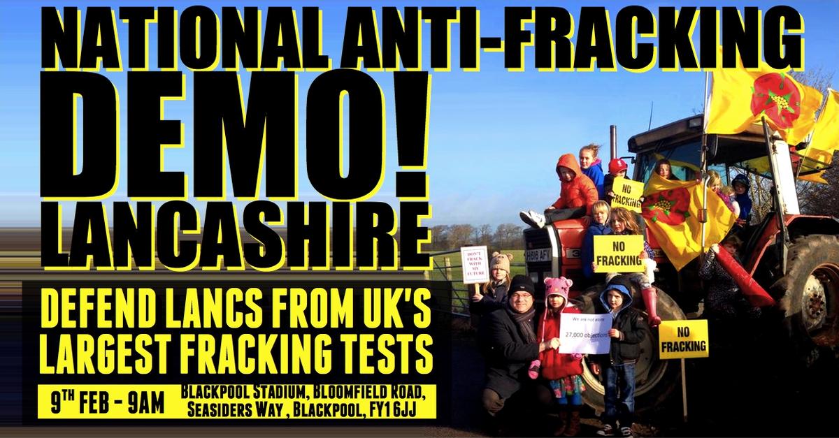 Lancashire Fracking Demo 9th Feb 2016