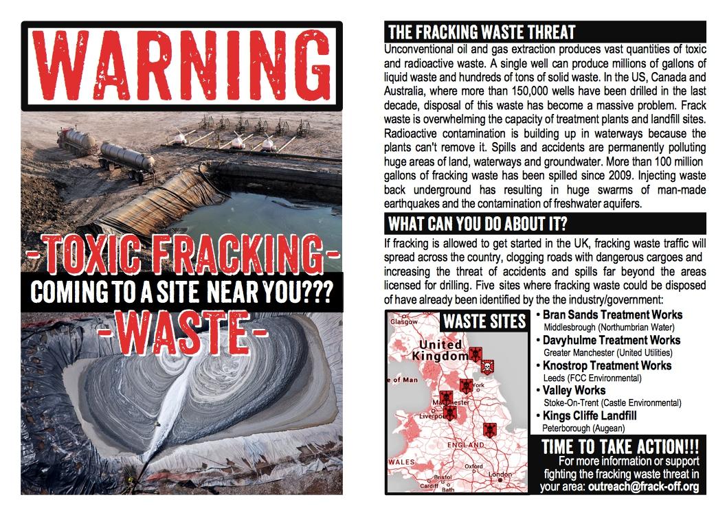 UK Fracking Waste Sites Flyer