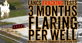 Lancashire Fracking Tests - 1 Year Of Flaring Per Site