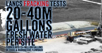 Lancashire Fracking Tests - Up To 40 Million Gallons Of Fresh Water Polluted