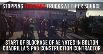 Lancashire Communities Block Entrance Of Fracking Construction Company