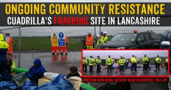 Cuadrilla's Fracking Site Closed: 4 People Lock Themselves To Gates