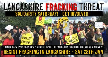 Fracking Lancashire: Community Solidarity Events - Sat 28th Jan
