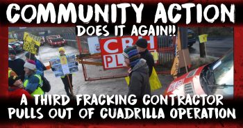 Another one bites the dust.. AGAIN! Fracking contractor quits following community action.