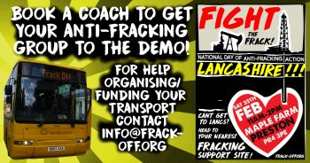 BOOK TRANSPORT TO GET YOUR GROUP TO LANCASHIRE DEMO - 25TH FEB!