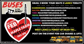 Lancs Demo National Transport - Get A Seat On A Bus To Fight The Frack!!!