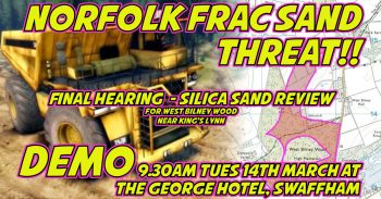 Norfolk Frac Sand Demo - Tuesday 14th March