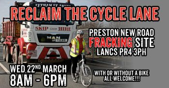 On Yer Bike Cuadrilla! - Join The Rolling Fracking Blockade This Week