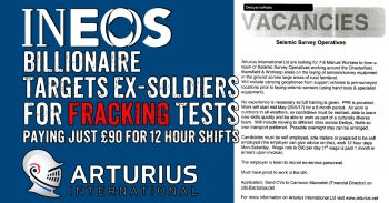Ineos Billionaire Targets Ex-Soldiers To Carry Out Minimum Wage Fracking Tests