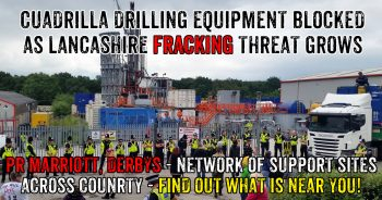 Cuadrilla Drilling Equipment Blockaded In Yard Near Chesterfield - Support Needed!