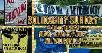 Anti-Fracking Solidarity Sunday - Derbyshire