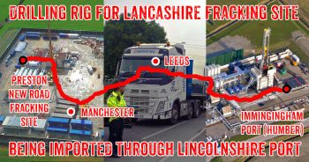 Fracking Lancashire: Drilling Rig Being Shipped In Through East Coast Port