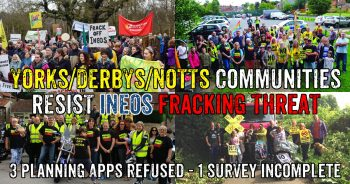 Local Communities Stand Up To Ineos Fracking Threat
